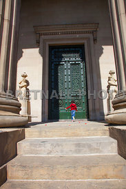 Child At The Door Of St. Georges Hall