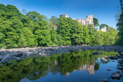 Barnard Castle, built in 12th century, set on the edge of the River Tees in Co. Durham, UK.