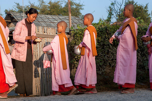 Otama novice nun in Myanmar