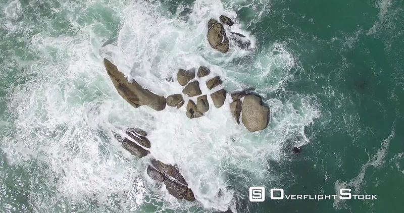 Drone Video Surf Crashing on Rocks South Africa
