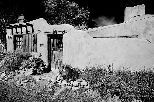 CANYON ROAD SANTA FE NEW MEXICO BLACK AND WHITE