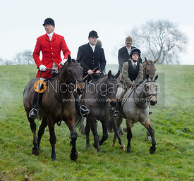 Nicholas Leeming at Knossington Spinney - The Fitzwilliam Hunt visit the Cottesmore at Burrough House