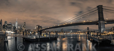 Brooklyn bridge over East river, New York