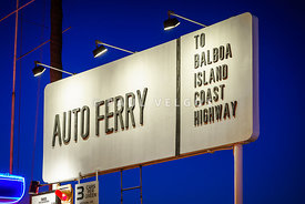 Newport Beach Auto Ferry Sign Photo