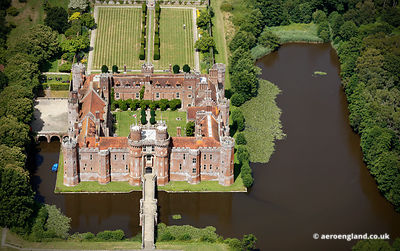 aerial photograph of Herstmonceux Castle East Sussex England UK