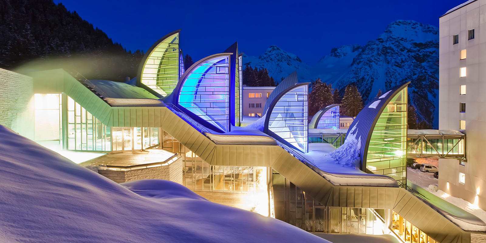 Spa Bergoase, Grand Hotel Tschuggen, Arosa, Graubünden