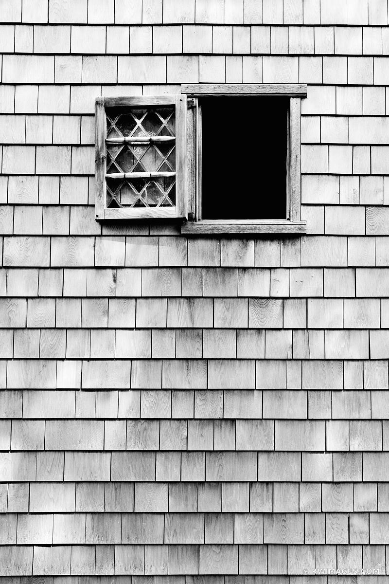 OLD HOUSE WINDOW HISTORIC SANDWICH MASSACHUSETTS CAPE COD BLACK AND WHITE VERTICAL