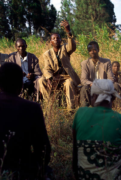 Burundi - Ruyigi - A counsel of the Bashingantahe (roughly meaning wisemen) meeting to settle a dispute