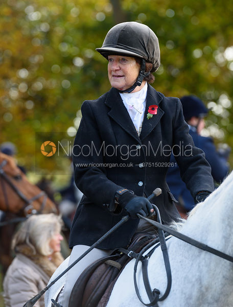 Rosalind Rowley at the meet - The Cottesmore at Somerby 5/11