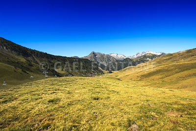 Landscape during mountain hiking at Pyrenean mountain, Saint Lary Soulan