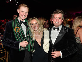 Tom Lalor, Robin Woodward, Camilla Southerington. The Quorn Hunt Ball 2019