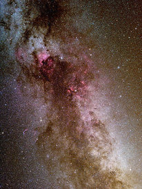 Cygnus constellation, milky way