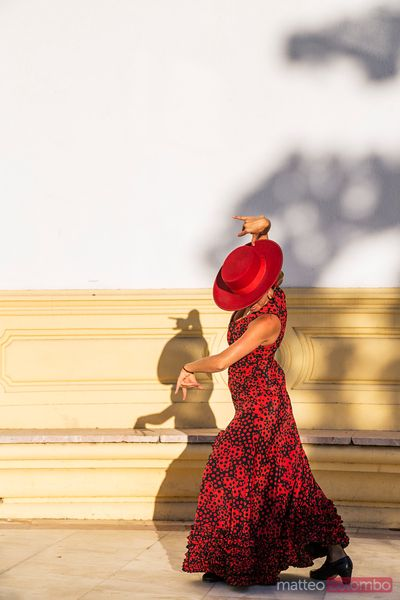 Flamenco dancer performing, Seville, Andalusia, Spain
