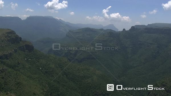 Aerial shot of a mountainous terrain North West South Africa