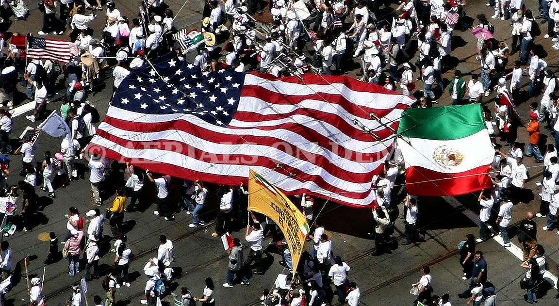 ILLEGAL IMMIGRATION RALLY SAN FRANCISCO AERIAL
