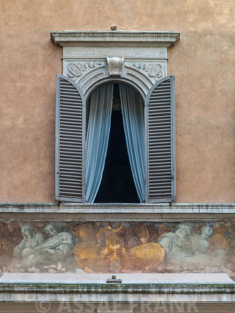 Old building with a window, Rome, Italy