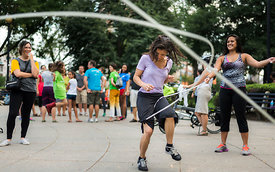 jumping rope with #PlayWithLove at Dupont Circle, Washington DC 15-Jul-2015