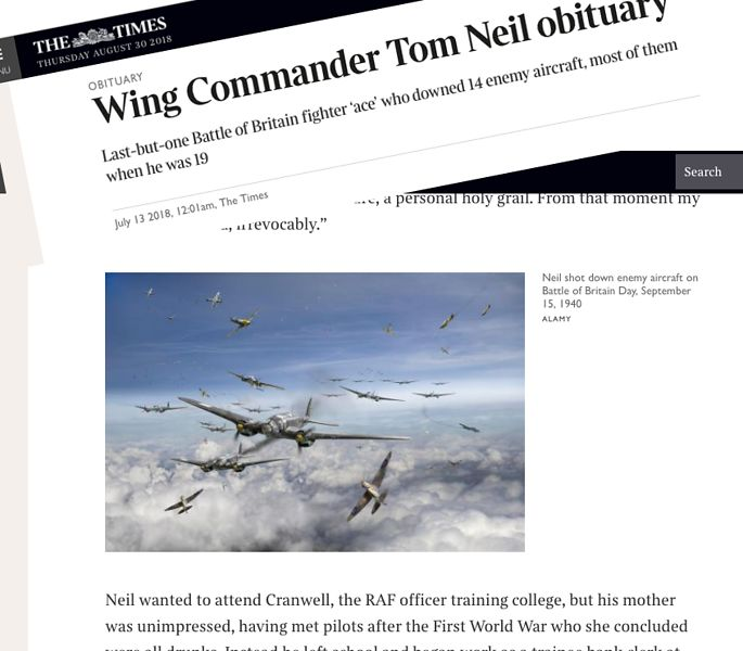 The Times obit Tom Neil