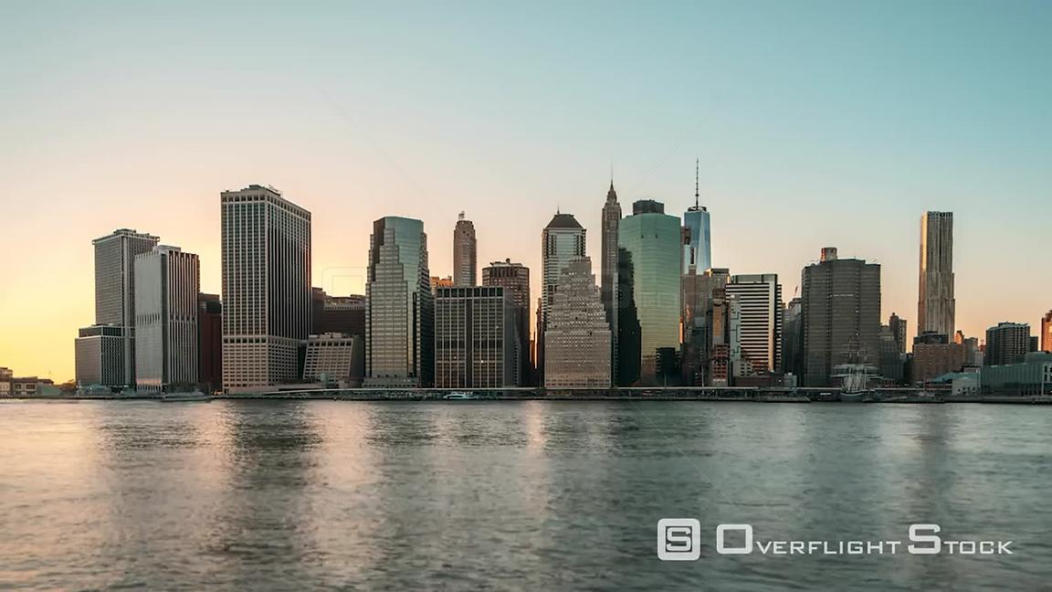 TimeLapse of Manhattan NYC from Brooklyn