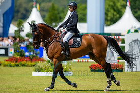 22/07/18, Aachen, Germany, Sport, Equestrian sport CHIO Aachen 2018 - Rolex Grand Prix,  Image shows Abdel SAID (EGY) riding ...