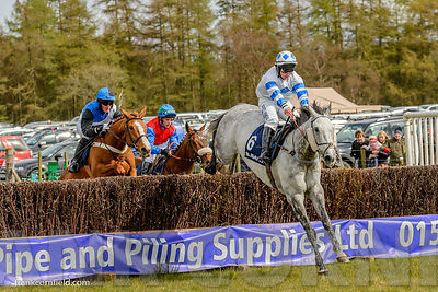 Pharawaydante winning The Subaru Restricted Race at Balcormo Point-to-Point on 23 Apr 2016.