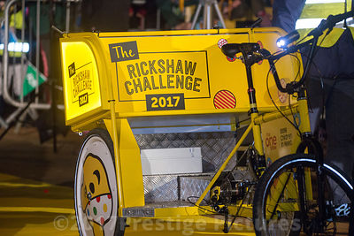 The Children in Need Rickshaw Challenge team 2017 in Banbury