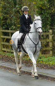 Ros Rowley at the meet at Oak House
