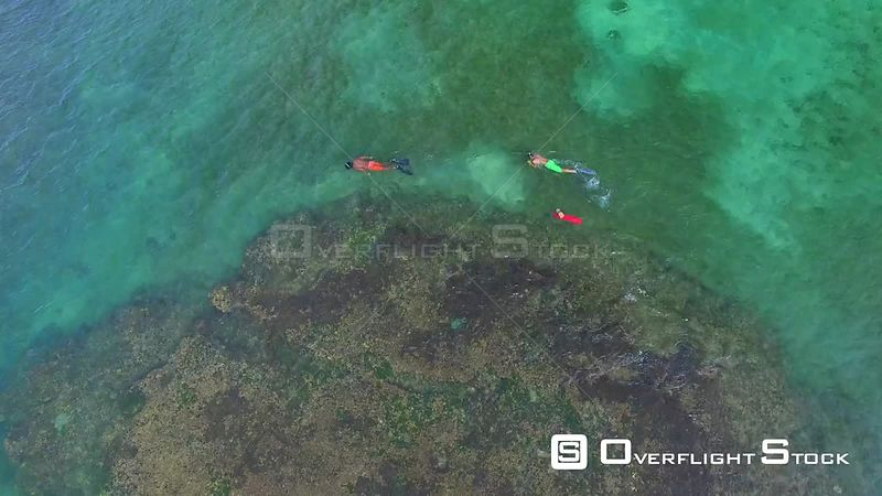 Snorkelling of Playa Punta Uva Caribbean Sea Costa Rica  Drone Video
