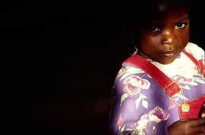 Burundi - Ruyigi - An orphan child of Burundi's ethnic conflict in Shalom House.