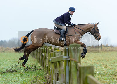 Jumping a hunt jump at Goadby Hall