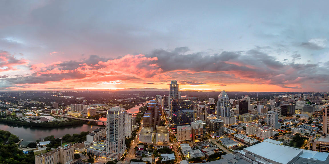 Aerial View of Austin Texas USA