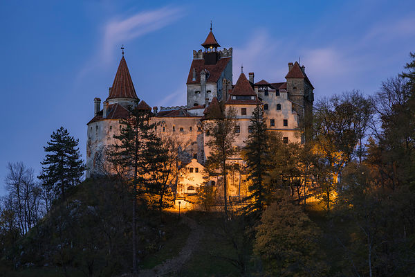 Bran Castle at Sunset