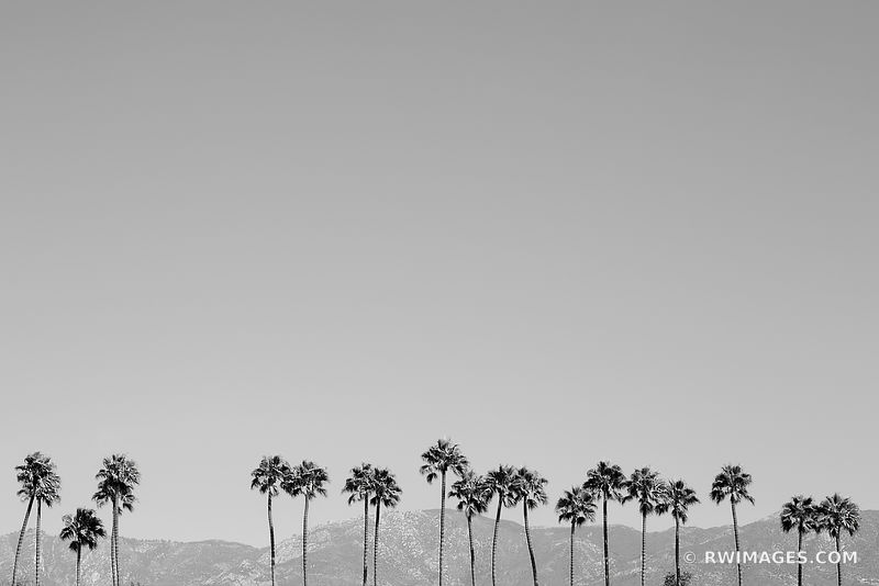 Santa Barbara California - Black and White Photos