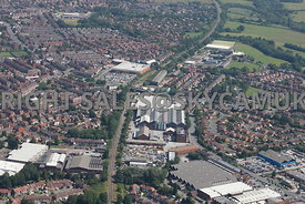 Stockport and Reddish aerial photograph of Vauxhall Industrial Estate Greg Street
