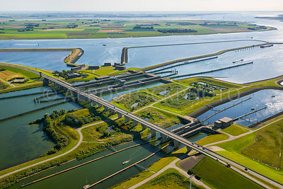 The Krammer Locks within the Philipsdam, Delta Works, South-Holland, Zeeland, the Netherlands