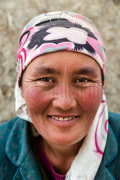 Portrait of a Nomadic Kazakh Woman