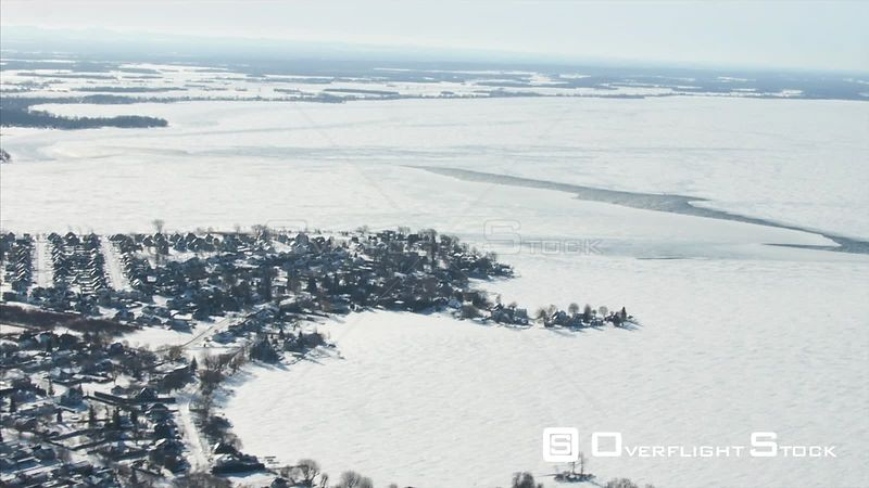 Winter Ice Conditions on the St Lawrence Near Montreal Canada
