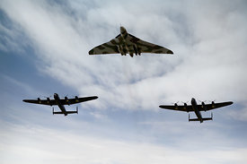 Three Avro bombers