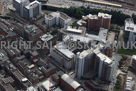 Leeds aerial photograph of the new developments on Aires Street Whitehall Road and Wellington Road Leeds