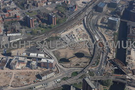 Middlewood Lock development area of Salford Central and the Western Gateway of Manchester
