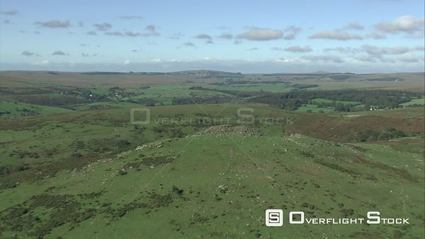Aerial view of Sharp Tor, Dartmoor National Park, Devon, England, UK, October 2015.