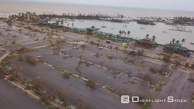 Damage to Marina and boats at La Guancha de Ponce from Hurricane Maria Puerto Rico