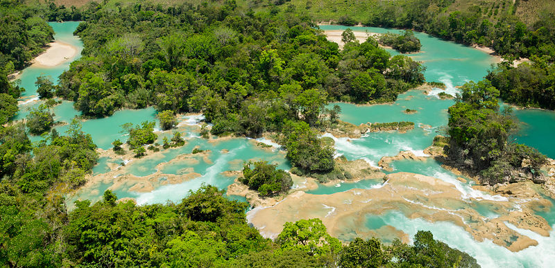 Cascades at Las Nubes (Centro Ecoturistico Causas Verdes Las Nubes) on the Santo Domingo river on the outskirts of the Lacand...