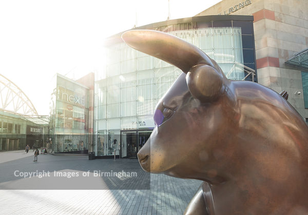 The Bullring Bull, Bullring shopping centre, Birmingham, England