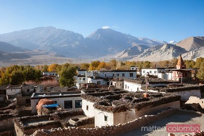 Village named Charang, Upper Mustang region, Nepal