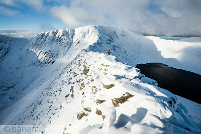 Striding Edge, Helvellyn, winter - BP3355B