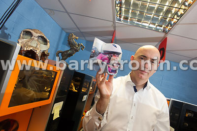 15TH JULY, 2015..Dr Conor MacCormack (Co-Founder and CEO, B.Sc. (Eng, MIEI, PhD) of  with 3d printed samples from kids runner...