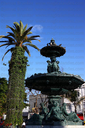 Bronze ornamental fountain , Plaza de Armas, Tacna, Peru