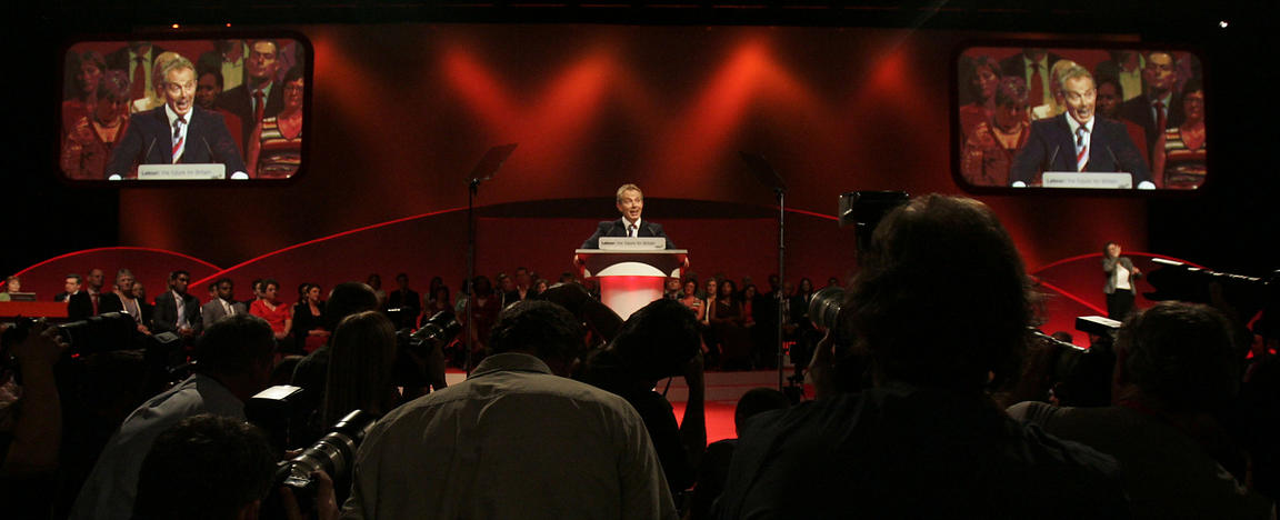 Tony Blair speaking at the Labour Party Annual Conference