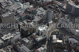 Leeds aerial photograph of the City Square Mall shopping centre and Park Row